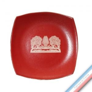 Collection MEGEVE - Assiette plate - Diam  27 cm -  Lot de 4