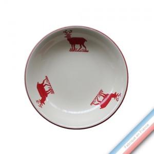 Collection MONTAGNE ROUGE - Assiette creuse - Diam  21 cm -  Lot de 4
