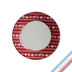 Collection MONTAGNE ROUGE - Assiette dessert - Diam  21.5 cm -  Lot de 4