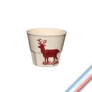 Collection MONTAGNE ROUGE - Pot confiture - H 8 cm - 0,2 L -  Lot de 1