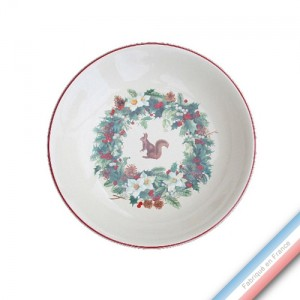 Collection ROSE DES NEIGES - Assiette creuse - Diam  21 cm -  Lot de 4