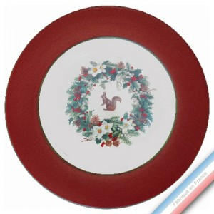 Collection ROSE DES NEIGES - Plat plat - Diam  31.5 cm -  Lot de 1