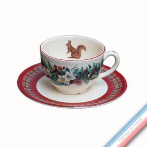 Collection ROSE DES NEIGES - Tasse et soucoupe thé - 0,20 L / 15,5 cm -  Lot de 4