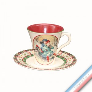 Collection SAINT PETERSBOURG - Tasse et soucoupe thé - 0,20L / 15 cm -  Lot de 4
