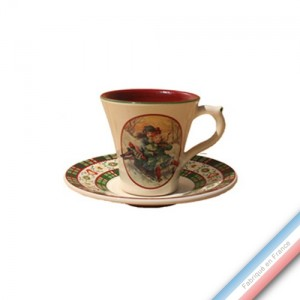 Collection SAINT PETERSBOURG - Tasse et soucoupe café - 0,05L / 11,5cm -  Lot de 4