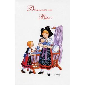 """Carte de voeux Alsace Ratkoff - """"Bienvenue au bébé"""""""