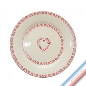 Collection TENDRE ROUGE - Assiette dessert - Diam  21.5 cm -  Lot de 4