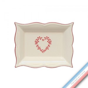 Collection TENDRE ROUGE - Vide poche rectangle - 21 x 17 cm -  Lot de 1