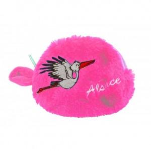 Porte Monnaie Cigogne - coloris rose