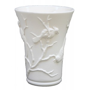Collection POINT DE VUE ECLAIRE - Vase Cacatoes Letalle - H 27 cm - 2 L -  Lot de 1