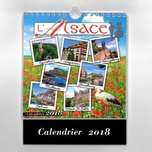 """Calendrier 2018 images """"L'Alsace (16,6 cm x 16cm)"""