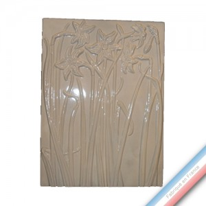 Collection IRRESISTIBLES - Plaque Iris - H 72 cm - L 52 cm  -  Lot de 1