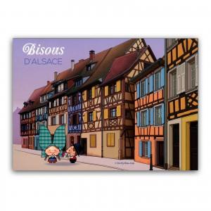 Carte postale Lovely Elsa - Bisous d'Alsace (1)