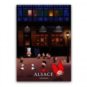 Carte postale Lovely Elsa - Alsace