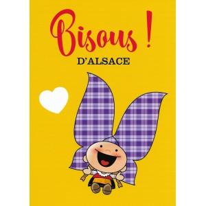 Carte de voeux Lovely Elsa - Bisous d'Alsace