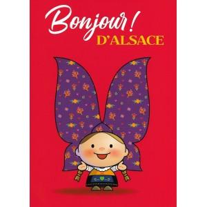 Carte de voeux Lovely Elsa - Bonjour d'Alsace