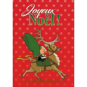 Carte de voeux Lovely Elsa - Joyeux Noël (rouge)