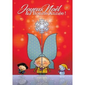Carte de voeux Lovely Elsa - Joyeux Noël et Bonne Année (rouge)