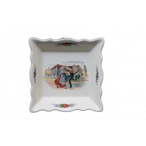 Collection OBERNAI  - Coupelle carrée Croquet - 15,5 x 15,5 cm -  Lot de 1
