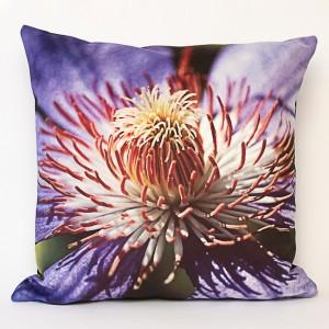 Coussin 40x40 cm collection fleurs - violette