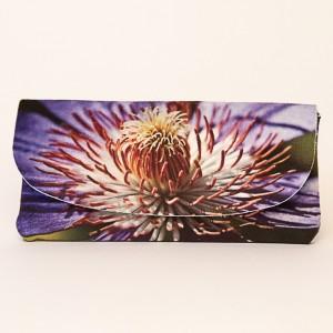 Etui à lunettes collection fleurs - Clématite violette