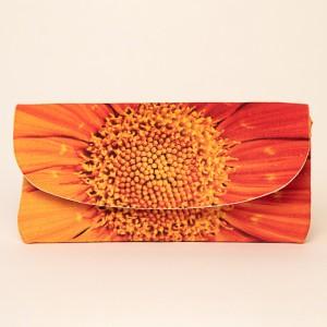 Etui à lunettes collection fleurs - Coeur soucis orange