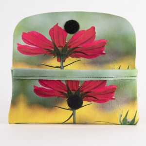 Etui à lunettes collection fleurs - Cosmo fuschia fond jaune
