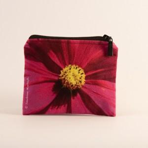 Porte-monnaie collection fleurs - Cosmo fuschia