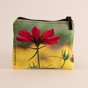 Porte-monnaie collection fleurs - Cosmo fuschia fond jaune