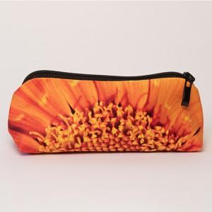 Trousse à crayons collection fleurs - Coeur soucis orange