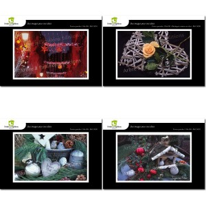 Lot de 4 cartes postales - Photos Frédéric Engel - NOËL 1