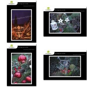 Lot de 4 cartes postales - Photos Frédéric Engel - NOËL 2
