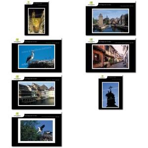 Lot de 7 cartes postales - Photos Frédéric Engel - ALSACE