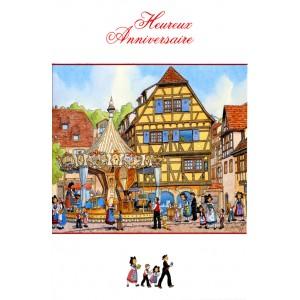 Carte de voeux Alsace Ratkoff - Heureux Anniversaire Manège