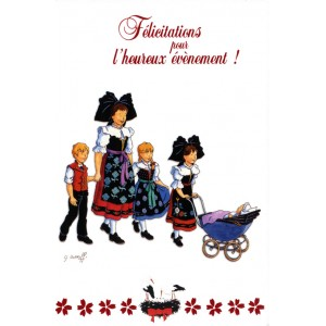 Carte de voeux Alsace Ratkoff - Félicitations pour l'heureux évènement