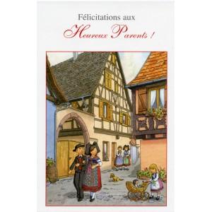 """Carte de voeux Alsace Ratkoff - """"Heureux parents"""""""
