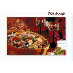 "Carte postale recette alsacienne - ""Le baeckeoffe"""