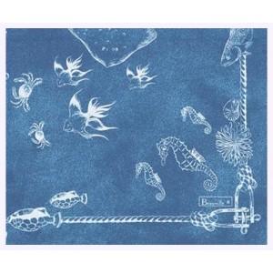"""Paquet de 20 serviettes en papier """"Odyssée"""" bleu"""