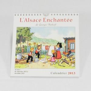 """Calendrier """"L'Alsace Enchantée 2013"""" de Ratkoff  (19,5cm x 20cm)"""