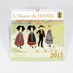"""Calendrier """"L'Alsace de Hansi 2013"""" (19,5cm x 20cm)"""