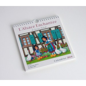 """Calendrier """"L'Alsace Enchantée 2014"""" de Ratkoff  (19,5cm x 20cm)"""